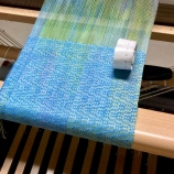 susan Allen loom with weaving